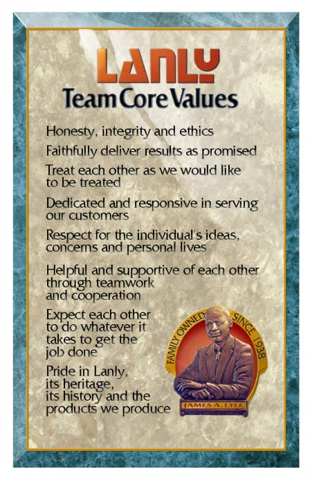 The Lanly Company Team Core Values