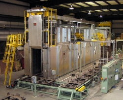Aluminum Heat Treat system during testing at Lanly facility