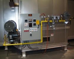 burner, control panel, manifold